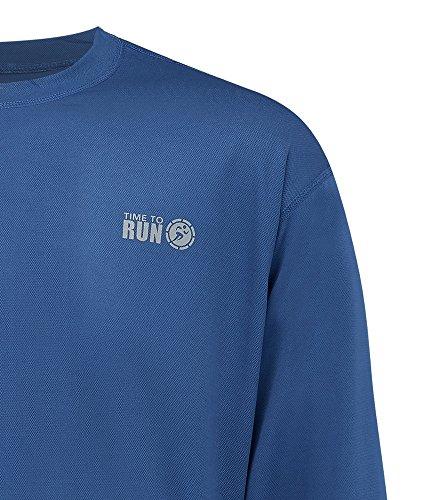 Favourite Laufen-Jogging-Shirt mit langen Ärmeln, Oberteil für Herren Stahlblau