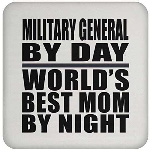 Designsify MOM Untersetzer, Military Allgemeine von Tag World 's Best Mom by Night–Untersetzer, Untersetzer, beste Geschenk für Mutter, Mum, Ihr, Eltern von Tochter, Sohn, Kind, Mann