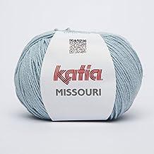 Katia Missouri Fb. 28–Aqua–Verano Lana, hilo de mezcla de algodón, algodón y poliacrílico para tejer &