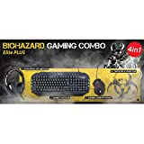 Connect IT Combo Elite Gaming Set Biohazard Tastatur/Headset/Maus/Pad in schwarz
