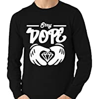 STAY DOPE MICKEY MOUSE HANDS DIAMOND JUMPER £14.99 LL03 (M)