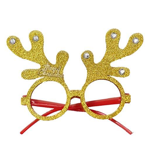 Feytuo Damen/Herren Gläser Nette Karikaturweihnachtsglaskarikatur kleiden Oben Festival kreative Fun Gläser Weihnachts Karneval Sale