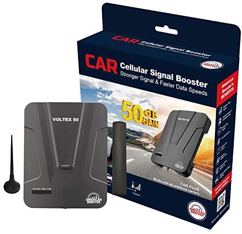 American Booster VOLTEX 50 Auto Plus 50 dB Verstärkung Handy Signal Booster für Autos und kleine Fahrzeuge - verbessert 4G LTE Sprach- und Datenabdeckung (Rv-antenne Booster)