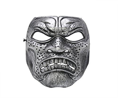 unsterblichen Silber Adult Halloween Maske (Miami Kostüme Halloween)