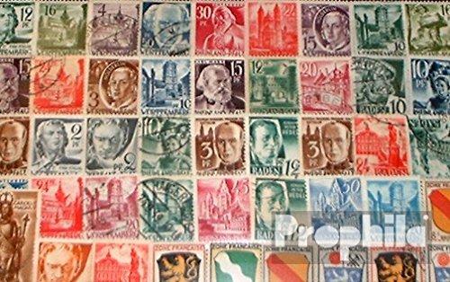 Prophila Collection Alliierte Besetzung in Deutschland 50 Verschiedene Marken Französische Zone nach dem 2. Weltkrieg (Briefmarken für Sammler)