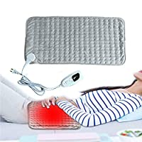 Heated Blanket, Heat Blanket Electric Blanket with 3 Hours Auto off Washable for Car Lap Foot Warmer Warm Up Warm Stomach Warm Waist Bed Leg Warmer,60x30cm-Grey