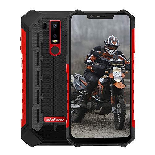 Ulefone Armor 6E (2019) Android 9.0 IP69K Smartphone Robusto - Helio P70 Octa-Core Outdoor telefono cellulare da 4 GB + 64 GB, 6,2''FHD + Schermo Notch, Ricarica wireless/NFC, Rosso
