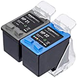 AmazonBasics - Cartucho de tinta regenerado, HP 21 y HP 22, negro y tricolor