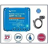 Premium Set victron Régulateur de charge MPPT 75/15pour caravane, avec ve. Direct Bluetooth Smart Dongle