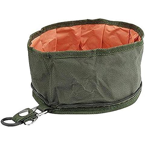 Japace® Ciotola Cane Pieghevole in Oxford Impermeabile e Lavabile Mangiatoia Abbeveratoio per Cibo che per Acqua Diametro 20cm - Portatile Dog Bath