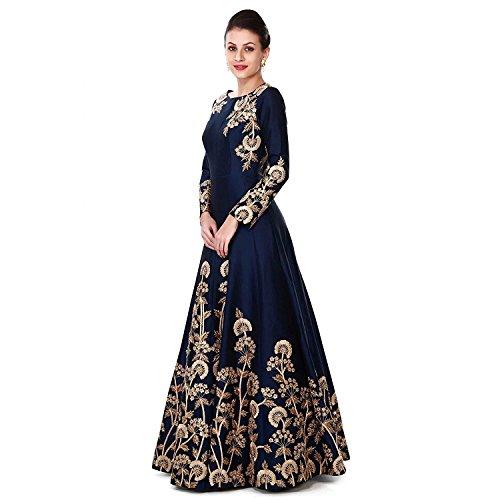Khileshwai Fashion Women\'s Taffeta Silk Anarkali Designer Wedding Dress For Woman And Girls Party Wear