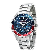 Idea Regalo - SECTOR NO LIMITS Orologio Cronografo Quarzo Uomo con Cinturino in Acciaio Inox R3273661008