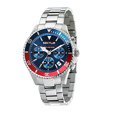 SECTOR NO LIMITS Herren Chronograph Quarz Uhr mit Edelstahl Armband R3273661008