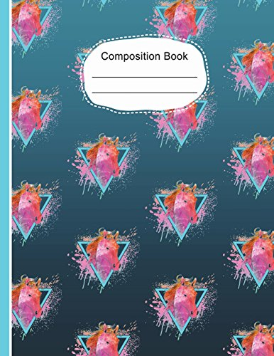 Watercolor Wallpaper Horse Head Large Composition Notebook: Dot Grid Journal,132 Dotted Pages 8.5 x 11,  Equestrian Writing Journal, School Teachers, Students por SLO Treasures