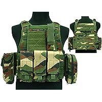 Desconocido Tactical 027 Molle - Chaleco de Combate, diseño de Airsoft