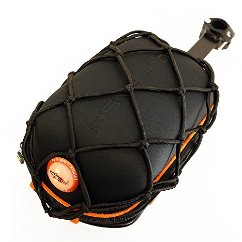 Fahrrad-Tasche mit roter LED -315-Sattelstützentasche für Fahrrad