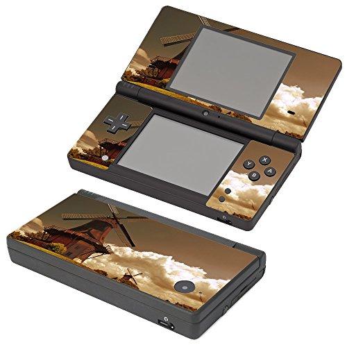 Paesaggi 157, Mulino a Vento, Skin Autoadesivo Sticker Adesivi Pelle Cover Decal Set con Design Strutturato con Nintendo DSi Autoadesivo
