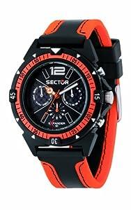 Reloj Sector R3251197021 de cuarzo para hombre con correa de tela, color naranja de Sector
