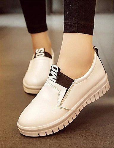ShangYi gyht Scarpe Donna-Sneakers alla moda / Mocassini-Tempo libero / Casual-Creepers-Plateau-Finta pelle-Nero / Rosso / Bianco Red