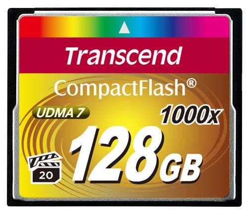 Transcend TS16GCF1000 Ultimate CompactFlash 128GB Speicherkarte (bis zu 160 MB/s lesen)