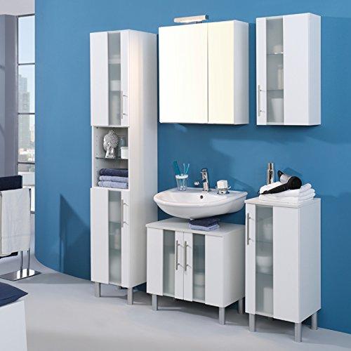 Waschbeckenunterschrank Miami, Held, weiß (60 cm breit) - 2