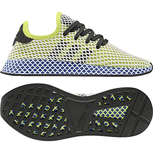 adidas DEERUPT Runner, Scarpe da Ginnastica Uomo, Giallo Hi/RES Yellow/Core Black/Ftwr White, 44 2/3 EU