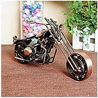 GWModel Vintage Motorcycle Modelo Hierro Artesanal Vehículo Modelo Antiguo Arte Colección Home Escritorio Retro Decoración Metal