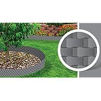 Cellfast Rasenkante Glatt Gartenzaun Beeteinfasung M/ähkante Garten Palisade 20cm x 9m, Schwarz