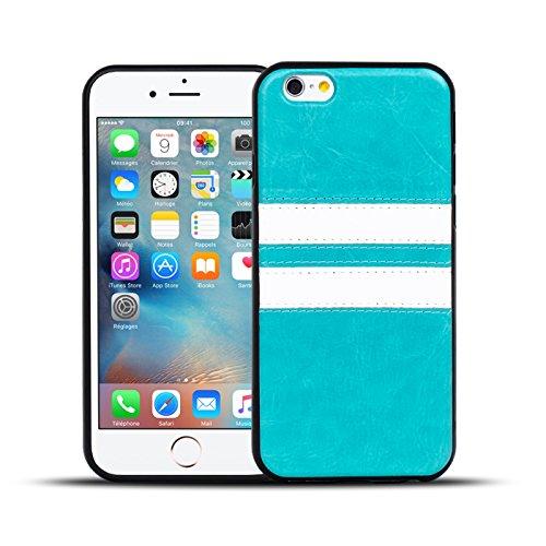 iPhone 7 Plus Hülle, Conie Mobile Backcover für iPhone 7 Plus Rückschale Sport Design Case Schutzhülle aus TPU Silikon in Braun Türkis