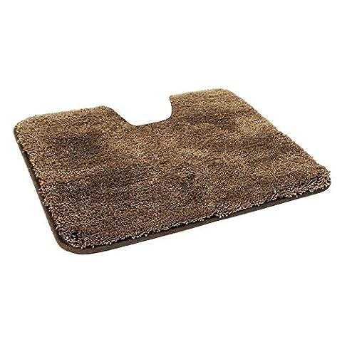 WC-Vorlage / Teppich für Stand-WC, MIT Ausschnitt, Microfaser Vorleger in 50x55 cm in der Farbe (Ausschnitte Vorlage)