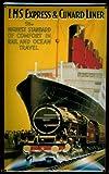 Blechschild Nostalgieschild LMS Expess & Cunard Liner Dampfschiff Eisenbahn Schild