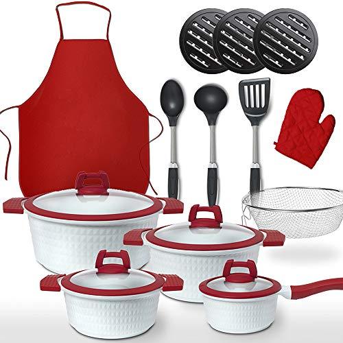 GRIDINLUX. Batería de Cocina 22 Piezas. Incluye Accesorios, Materiales Calidad Premium. Resistente...