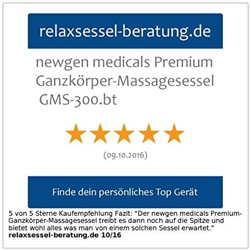 newgen medicals Premium-Ganzkörper-Massagesessel GMS-300.bt - 5
