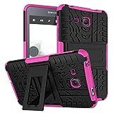 Galaxy Tab A6 7.0 Case,Hülle für Samsung Tab A 7'',XITODA Hybrid Armor Cover Tough Tasche Tablet Case für Samsung Galaxy Tab A 7.0 Zoll 2016 (SM-T280/T285) Tablet Schutzhülle mit Kickstand - Hot Pink