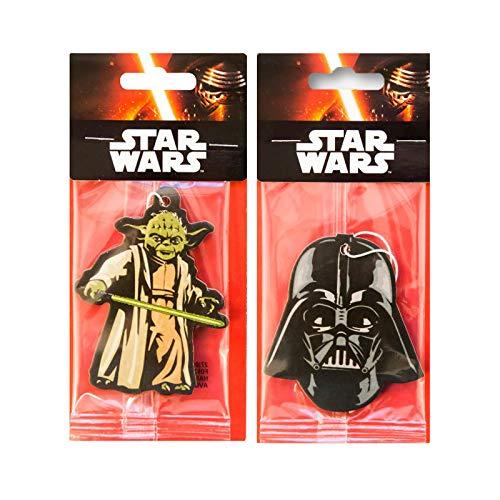 Star Wars Auto-Lufterfrischer, 2er Pack -Darth Vader + Yoda, offizielles Disney-Produkt -