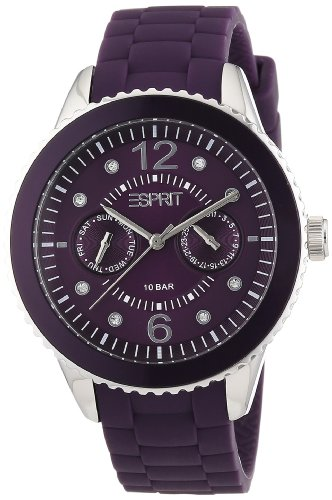 Esprit Marin 68 Speed Women's Quartz Watch with Purple Dial Analogue Display and Purple Silicone Strap ES105332017