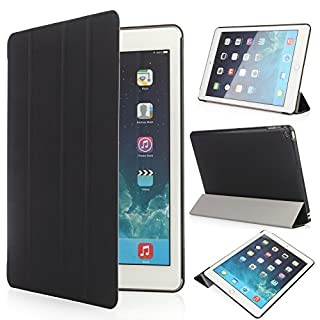 iHarbort Coque Apple iPad Air 2 Etui - Poids léger Angles de Vue Multiples Smart Cover Titulaire Stand Etui en Cuir pour Le Apple Apple iPad Air 2, avec Fonction Sommeil/réveil, Noir (B00ODKYOSC) | Amazon price tracker / tracking, Amazon price history charts, Amazon price watches, Amazon price drop alerts