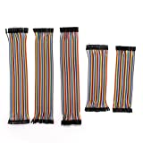 Raogoodcx 200PCS (5tipi) 30cm pin maschio a maschio, maschio A femmina, femmina a Famale, 2.0a 2.0DuPont breadboard ponticello cavo kit