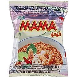 Mama Nouilles Instantanées Tom Yum Crevette 60 g - Pack de 30