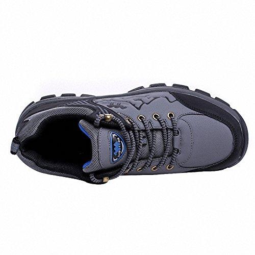 Ben Sports Chaussures Camping et randonnée Chaussures basses de Homme,37-46 Gris