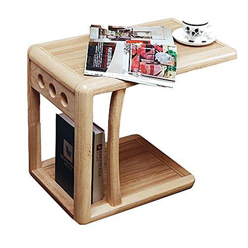 Schreibtische HAIZHEN U-förmigen Beistelltisch Beweglichen Wohnzimmer/Schlafzimmer 2-Tier-Sofa Side End Snack Table Tray Couchtische mit Rädern Klapptisch - , U-förmigen Schreibtisch