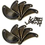 tfrdertuuigf Vintage bronce tornillos tirador para puerta armario Knob cajón Carcasa taza (Pack de 10)