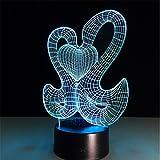 Abstrakte Nachtlampe Der Bunten Lampe Der Nachttischlampe Der Nacht 3D Acryllichtkörper-Induktionslampe