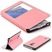 Original UrCover® Samsung Galaxy Note Edge Hülle View Case Schutzhülle [DEUTSCHER FACHHANDEL] Handyhülle Schale Case Etui Flip Rosa