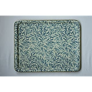Quality Fibreglass Tray in an Exclusive William Morris Blue Willow Design. Medium size.