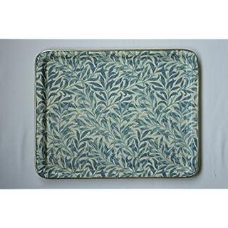 Arnold Designs Quality Fibre Glass Tray 36x28cm Medium William Morris Blue Willow