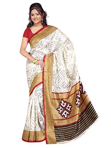 Winza Cotton Saree (Exclusive Ethnic Desi Art Silk Cotton Bolly Bhagalpuri Sarees 1124_Multicolor)