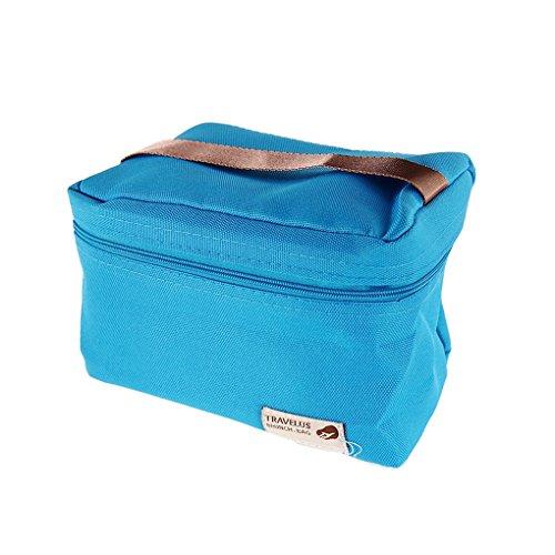 QHGstore Unisex Thermal Isolierte Mittagessen-Speicher-Beutel-Taschen Blau