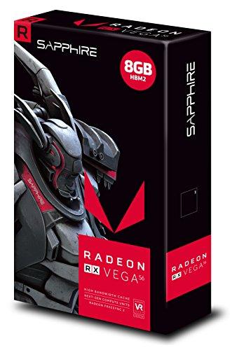 Sapphire 11276–01–40g Grafikkarte ATI Radeon RX Vega 561471MHz PCI Express