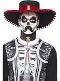 Smiffys Déguisement Homme, Kit maquillage señor squelette Jour des morts, Noir et blanc, Tatouages temporaires, peinture pour le visage, 44926